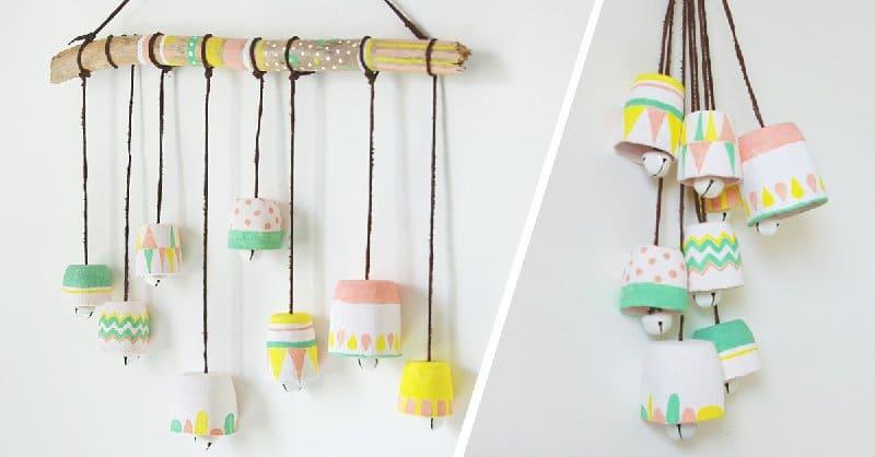 Carillons à vent faits maison pour les enfants