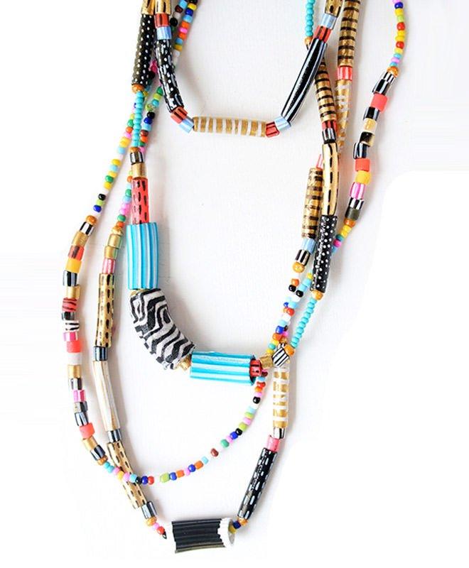Perles pour collier de nouilles