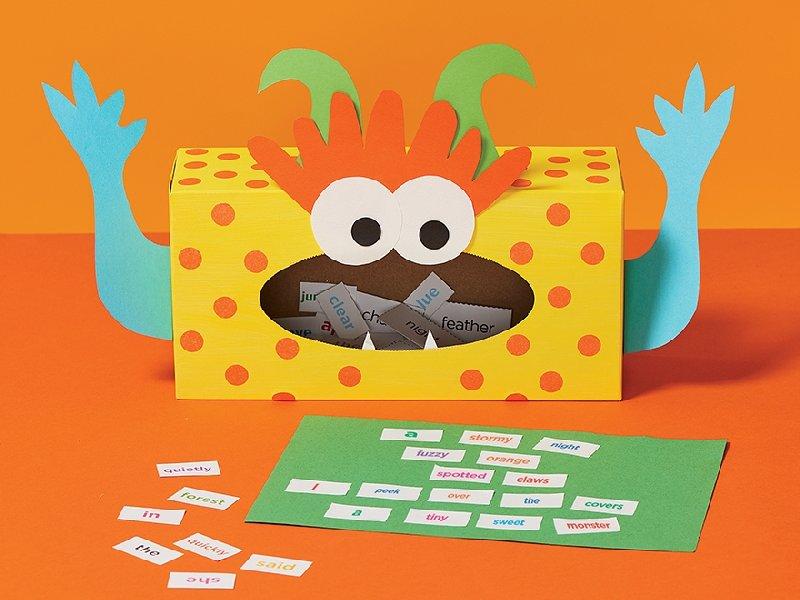 Boîte de mouchoirs en papier - idée de bricolage pour enfants